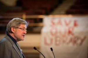 John Dolan at Libraries Rally March 2013