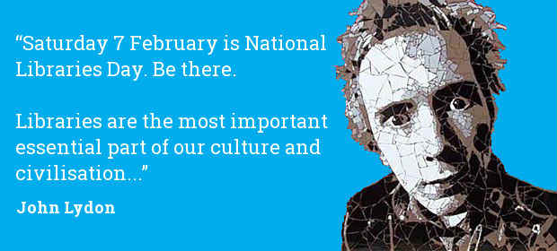 "Nothing Rotten about that quote. This work, ""John Lydon National Libraries Day 2015"", is a derivative of ""John Lydon Mosaic by Ed Chapman"" by dullhunk, used under CC BY 2.0. ""John Lydon National Libraries Day 2015"" is licensed under CC BY 2.0 by cilipmarketing."