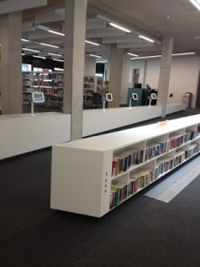Willesden Green Library - lots of space and spot the row of iPads for public use