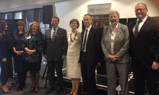 Ed Vaizey and SCL President Ciara Eastell, along with other dignitaries at the launch