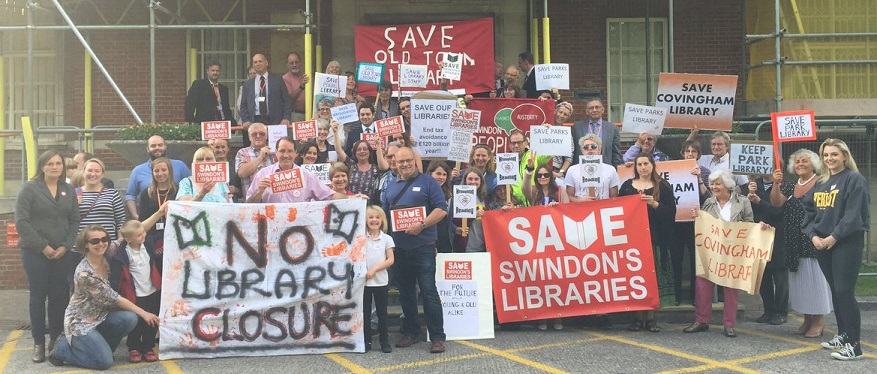 Swindon: Campaigners were out in force to show their support for Swindon's libraries ahead of a full council meeting