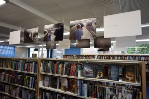 Display especially designed for libraries