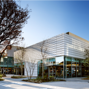 CCC/Tsutaya's Daikanyama T-Site Bookstore in Tokyo.  Often ranked as one of the most beautiful bookstores in the world, and serves as the inspiration for the CCC/Tsutaya libraries.