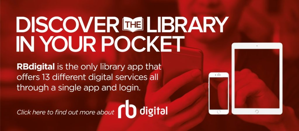 """""""Discover the library in your pocket"""" RB Digital Advert"""